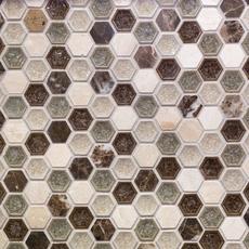 Bershire Hexagon Glass Mosaic