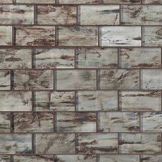 Monroe 2 x 4 in. Brick Glass Mosaic