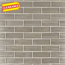 Clearance! Satin Champagne Glass Tile
