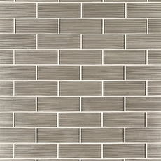Satin Champagne Glass Tile
