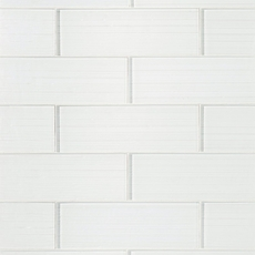 Crystal White Ice Glass Tile