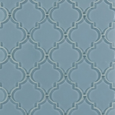 Fleur Spa Arabesque Water Jet Cut Glass Mosaic