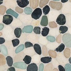 Durian River Flat Pebble Stone Mosaic