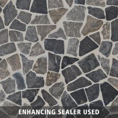 Solo River Gray Pebble Mosaic