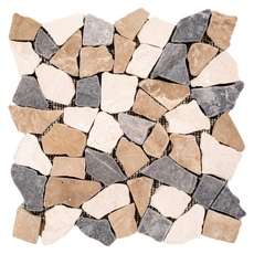 Solo River Multi Pebble Stone Mosaic