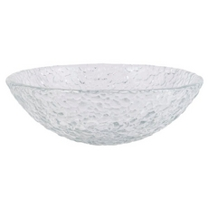 Crystal Pebble Glass Sink