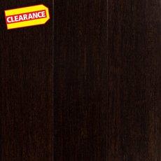 Clearance! Raw Umber Hand Scraped Locking Stranded Engineered Bamboo