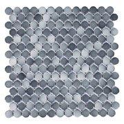 Dark Gray II Penny Porcelain Mosaic