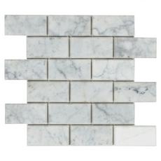 Beveled Bianco Brick Polished Mosaic