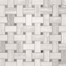 Valentino Gray Basket Weave Marble Mosaic