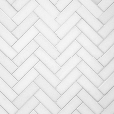Maravilla Thassos Herringbone Polished Marble Mosaic