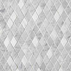 Bianco Carrara Diamond Marble Mosaic