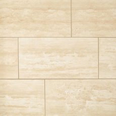 Ivory Vein Cut Honed Travertine Tile
