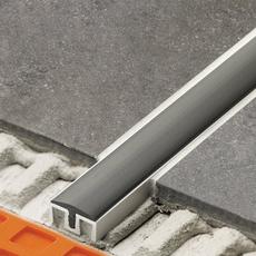 Schluter SHOWERPROFILE-WSC-WK Satin Anodized Aluminum Semi-Circular End Cap