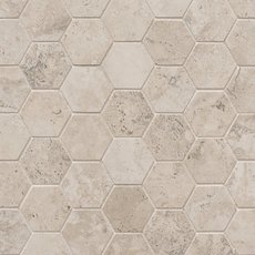 Tarsus Almond Hexagon Porcelain Mosaic