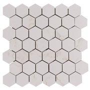 Carrara Matte Hexagon Porcelain Mosaic