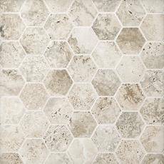Tarsus Gray Hexagon Porcelain Mosaic