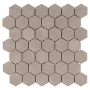 Uptown Gray Hexagon Porcelain Mosaic