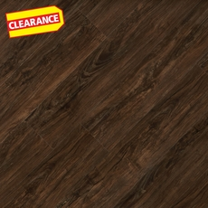Clearance! Smoked Walnut Hand Scraped Luxury Vinyl Plank