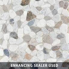 Bianca Carrara Mix Pebble Mosaic