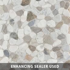 Bianca Carrara Mix Pebblestone Mosaic