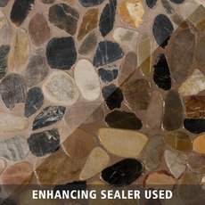 Flat Mixed Honed Pebble Mosaic