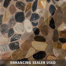 Flat Mixed Honed Pebblestone Mosaic