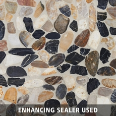 Flat Mixed High Polished Pebblestone Mosaic