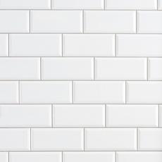 Bright White Ice Subway Ceramic Wall Tile 3 X 6