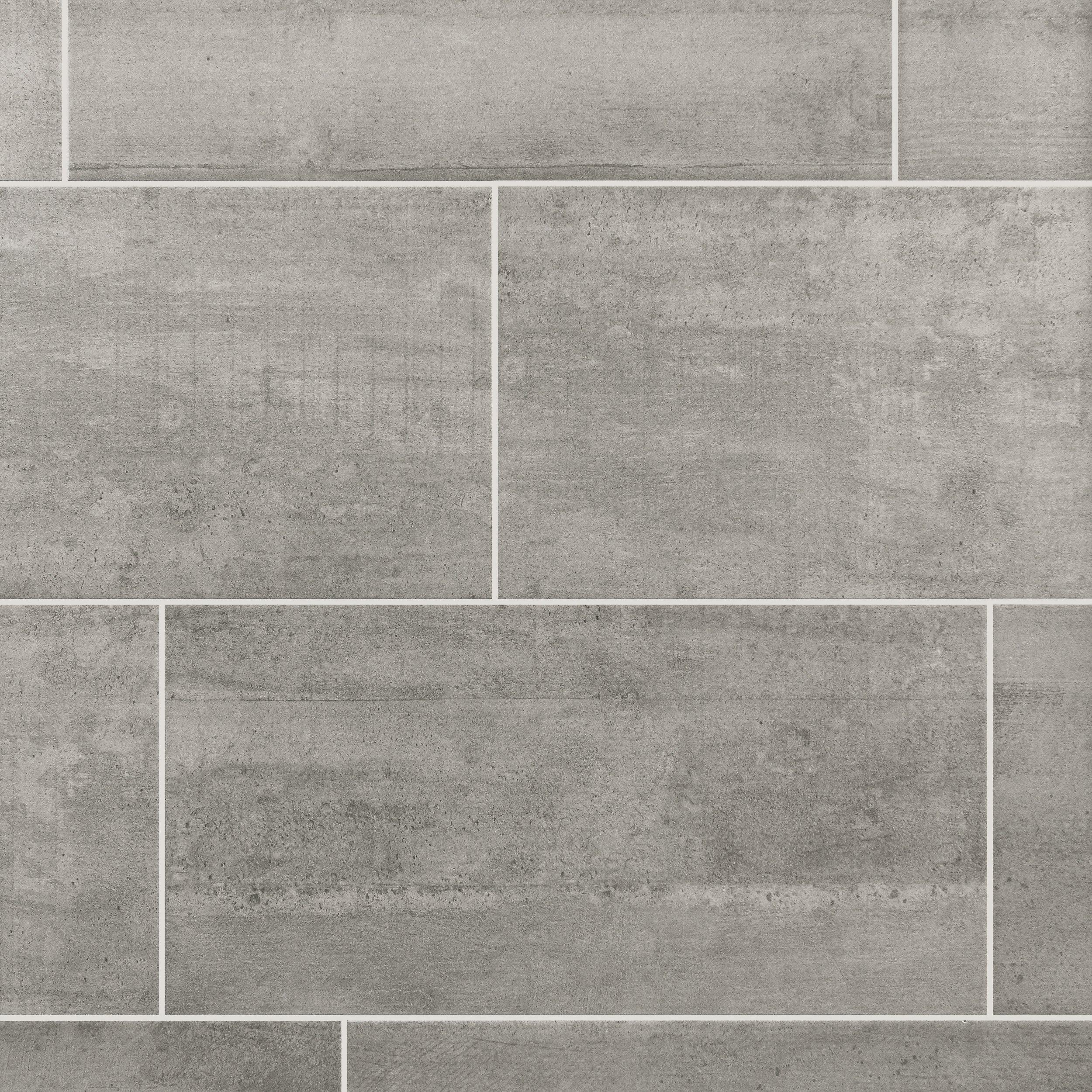 Concrete Gray Ceramic Tile