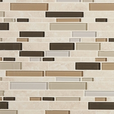 Santos Beige Linear Glass Mosaic