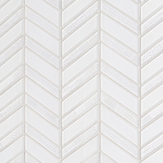 Axiom Ice Chevron Glass Mosaic