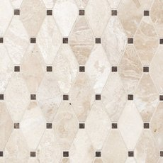 Crema Royal Dia Diamond Polished Marble Mosaic