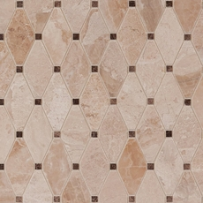 Viviano Marmo Impero Reale Dia Diamond Polished Marble Mosaic