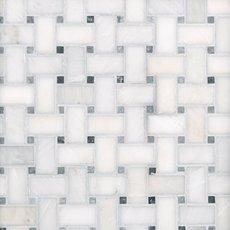 Carrara White Basket Weave Marble Mosaic