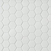 Metro White Matte Hexagon Porcelain Mosaic
