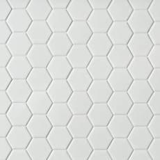 white tile bathroom floor. Metro White Matte Hexagon Porcelain Mosaic Tile Bathroom  Floor Decor
