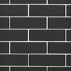 Shadow 2 x 6 in. Brick Glass Mosaic