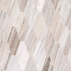Golden Valley Elongated Hexagon Marble Mosaic