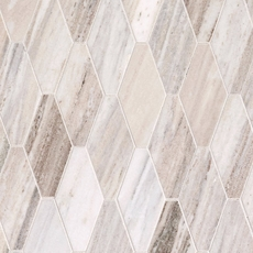 Golden Valley Elongated Hexagon Marble Mosaic