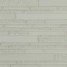 Sea Salt Textured Linear Glass Mosaic
