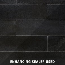 Black Brushed Limestone Tile