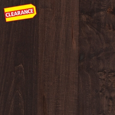 Clearance! Chocolate Maple Hand Scraped Solid Hardwood