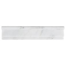 Carrara White Marble Chair Rail