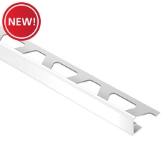 New! Schluter-Jolly Edge Trim 1/2in. In Bright White Color-Coated Aluminum