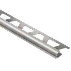 Schluter-Rondec Bullnose Edge Trim 3/8in. in Brushed Nickel Anodized Aluminum