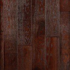 Black Amber Oak Distressed Solid Hardwood