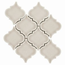 Heirloom Pewter Arabesque Porcelain Mosaic 10 X 10