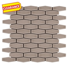 Clearance! Clay Elongated Hexagon Porcelain Mosaic