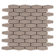 Villa Heirloom Clay Elongated Hexagon Porcelain Mosaic